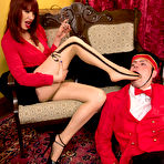 Second pic of SexPreviews - Maitresse Madeline feet fetish femdom humiliates her bellboy and makes him cum