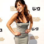 Third pic of Sarah Shahi busty and booty in low cut strapless dress at USA Network 2012 Upfront in New York