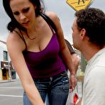 First pic of Gianna Michaels - Gianna Michaels takes her tight blue jeans off and gets her muff rammed roughly.