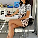Second pic of Jordana Brewster leggy wearing shorts at the Procter & Gamble Beauty Box event in NYC