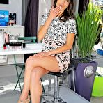 Third pic of Jordana Brewster leggy wearing shorts at the Procter & Gamble Beauty Box event in NYC