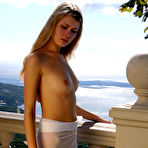 First pic of Nastya A - Nastya A goes out on a balcony where she takes her clothes off to get perfect tan.