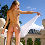 Second pic of Nastya A - Nastya A goes out on a balcony where she takes her clothes off to get perfect tan.