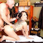 Fourth pic of Casey Cumz gets oiled up and drilled by her massage therapist