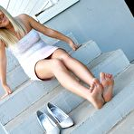 Fourth pic of PinkFineArt | Olya Feet Heels Blonde 4 from Teens Foot Fetish