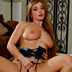 Third pic of Rita Faltoyano - Rita Faltoyano takes her lingerie off in front of the camera and gets screwed.