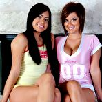First pic of Cierra Spice and girlfriend have fun together and tease with their feet - XBabe