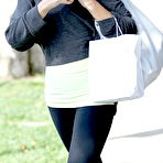 First pic of Kate Beckinsale leggy in workout gear leaving a salon in Beverly Hills