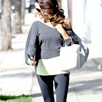 Third pic of Kate Beckinsale leggy in workout gear leaving a salon in Beverly Hills