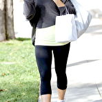 Fourth pic of Kate Beckinsale leggy in workout gear leaving a salon in Beverly Hills