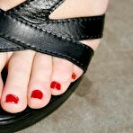 Fourth pic of PinkFineArt | Ekaterina Red Toenails 4 from Teens Foot Fetish