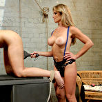 Second pic of Lesbian slave Dana Vixen gets every hole punished by two dominas Felony and Ashley Fires