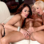 Third pic of 50PlusMILFs.com - Renee Black and Scarlet Andrews - Two MILFs, one job, one cock
