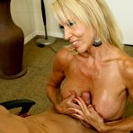 Third pic of Erica Lauren - Blond MILF jacking off a cock on Over40Handjobs.com
