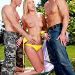 First pic of Teena Lipoldino Hot Blonde Performs Dual Blowjob