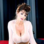 First pic of Summer Cummings - Busty brunette gal Summer Cummings strips her white lingerie and shows her jugs.