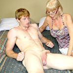 Fourth pic of Granny Scarlet Helps William Masturbate on CumBlastCity
