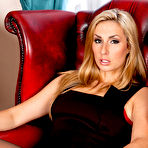First pic of Paige Turnah Wraps Curvy Buxom Bod on Leather Chair