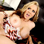 Second pic of Julia Ann Busty Cougar Seduces Peeping Tom