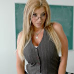 First pic of Teacher Sara Jay Wake-up Danny With Her Titties / MILF Fox