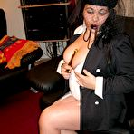 Second pic of Fat Ebony Czech Gypsy Mama Presentation Her Big Huge Randy Nipples For A Web Cam Production