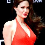 Fourth pic of Angelina Jolie in red dress at Salt premiere In Moscow