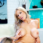 Second pic of Busty blonde lesbian babes Nicole Aniston & Whitney Marie - Penthouse - Spank It Now!