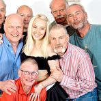 First pic of Lola Taylor has a Gangbang with seven old Guys 1 of 1