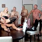 Second pic of Lola Taylor has a Gangbang with seven old Guys 1 of 1