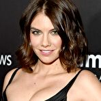 First pic of Lauren Cohan sexy cleavage at amfAR