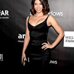 Fourth pic of Lauren Cohan sexy cleavage at amfAR