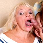 Second pic of Horny blond mother fucked real hard by her grown up son!