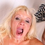 Fourth pic of Horny blond mother fucked real hard by her grown up son!