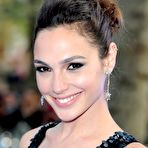 First pic of Gal Gadot braless showing huge cleavage in a shiny black dress at Fast And Furious 6 premiere in London