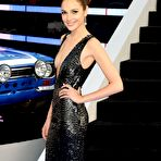 Third pic of Gal Gadot braless showing huge cleavage in a shiny black dress at Fast And Furious 6 premiere in London