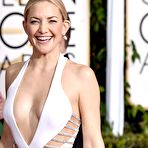 First pic of Kate Hudson braless showing huge cleavage in revealing white dress at 72nd Annual Golden Globe Awards in Beverly Hills