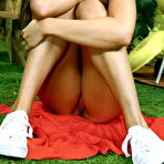 Fourth pic of Tori Black peel off her jeans and red panty in her garden @ Hustler