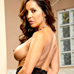 Third pic of Francesca Le Busty MILF Strips Down to Stockings and Garters