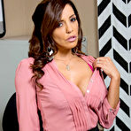 First pic of Francesca Le Stacked MILF Strips at the Office