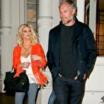 First pic of Jessica Simpson busty wearing skimpy casual outfit out in NYC