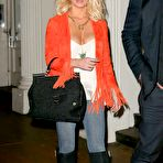 Second pic of Jessica Simpson busty wearing skimpy casual outfit out in NYC