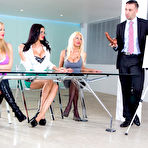 First pic of Jasmine Jae & Leigh Darby & Rebecca Moore & Tia Layne - Big Tits at Work
