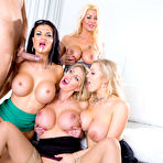 Fourth pic of Jasmine Jae & Leigh Darby & Rebecca Moore & Tia Layne - Big Tits at Work