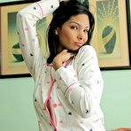 Third pic of Sweet swarthy teen in pajamas turns into totally irresistible stripper - XBabe