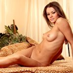Second pic of Brunette beauty Nastya A shows off her nude body in bed - Coed Cherry
