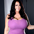 First pic of Leanne Crow Frees Whopping HH Boobs from Purple Tank Top