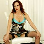 First pic of Hot mature girdle and stockings striptease