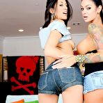 Second pic of Angelina Valentine and Lyla Storm are two very sexy lesbians eager to fuck together