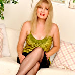 First pic of Mature lady in sheer black stockings at Nylon Angel
