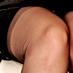 Fourth pic of Mature lady in sheer black stockings at Nylon Angel